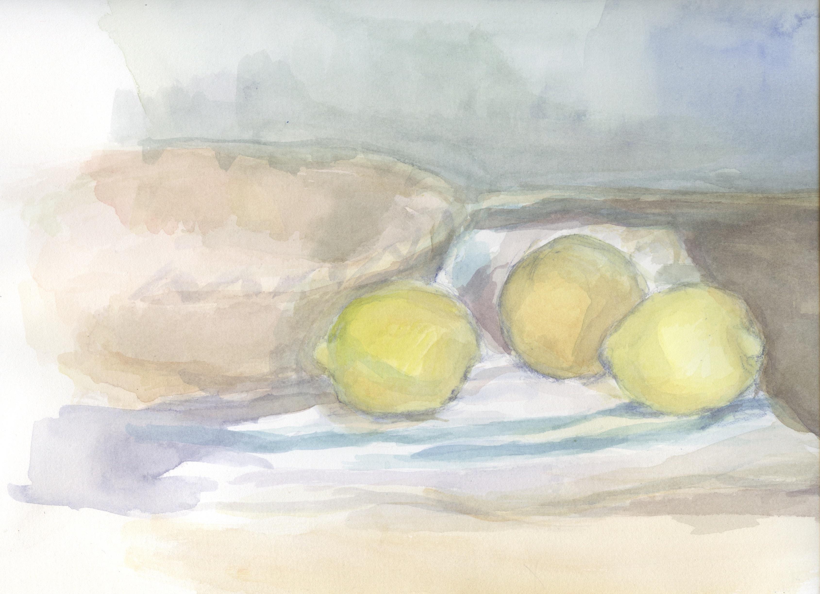 bowls lemons cloth c
