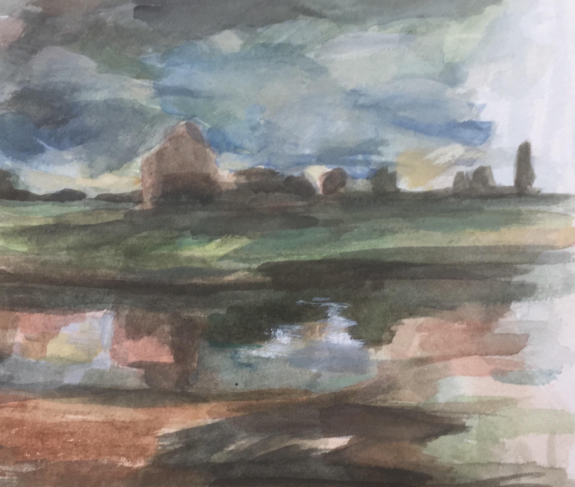 landscape study watercolour